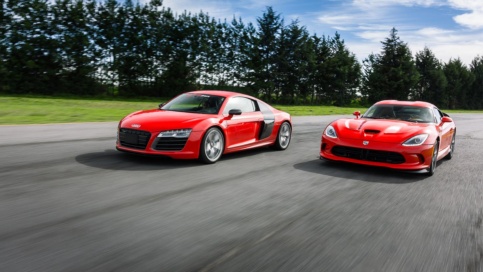 Audi Srt: Comparativa: Audi R8 V10 Plus Vs SRT
