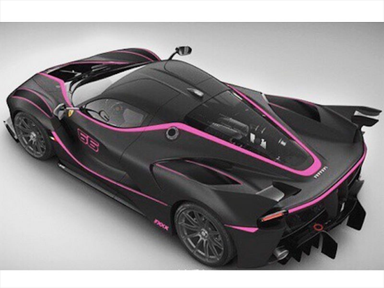 Cosmos Girls - Ferrari FXX K se viste de negro con rosa ...