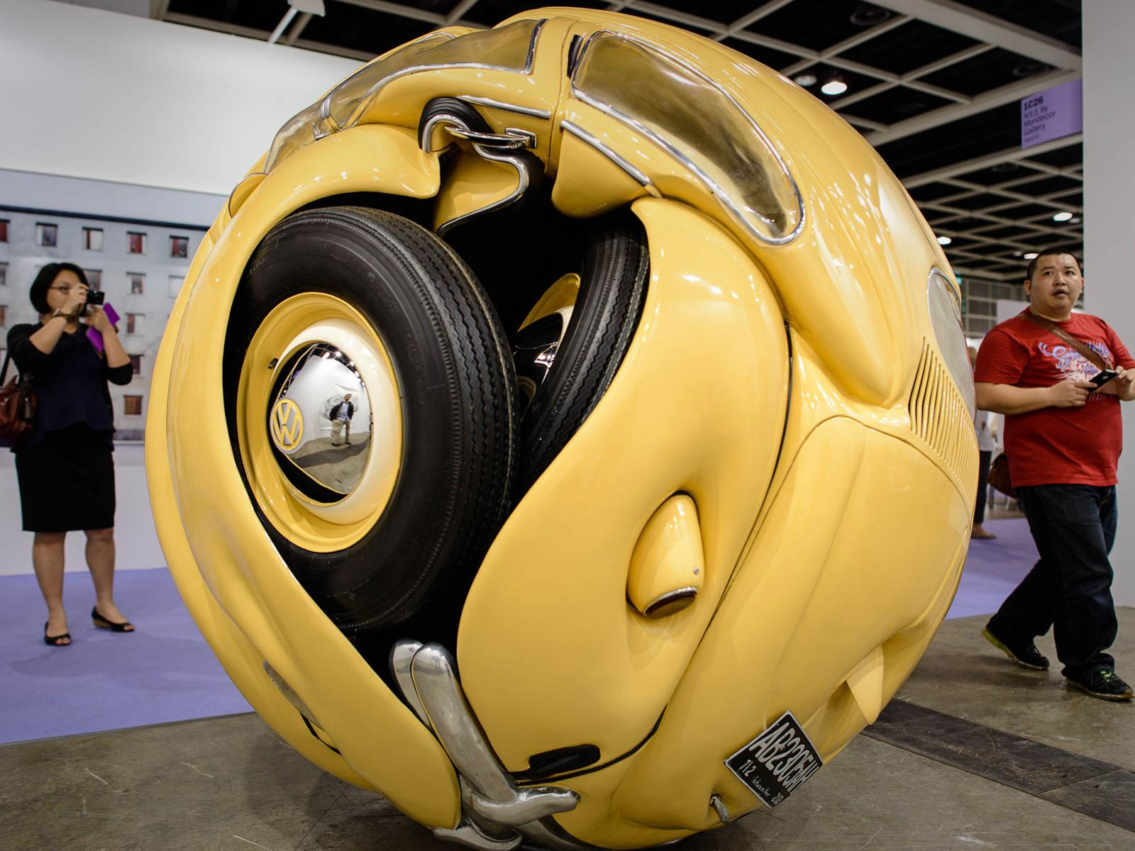vw beetle sphere insecto o escultura. Black Bedroom Furniture Sets. Home Design Ideas