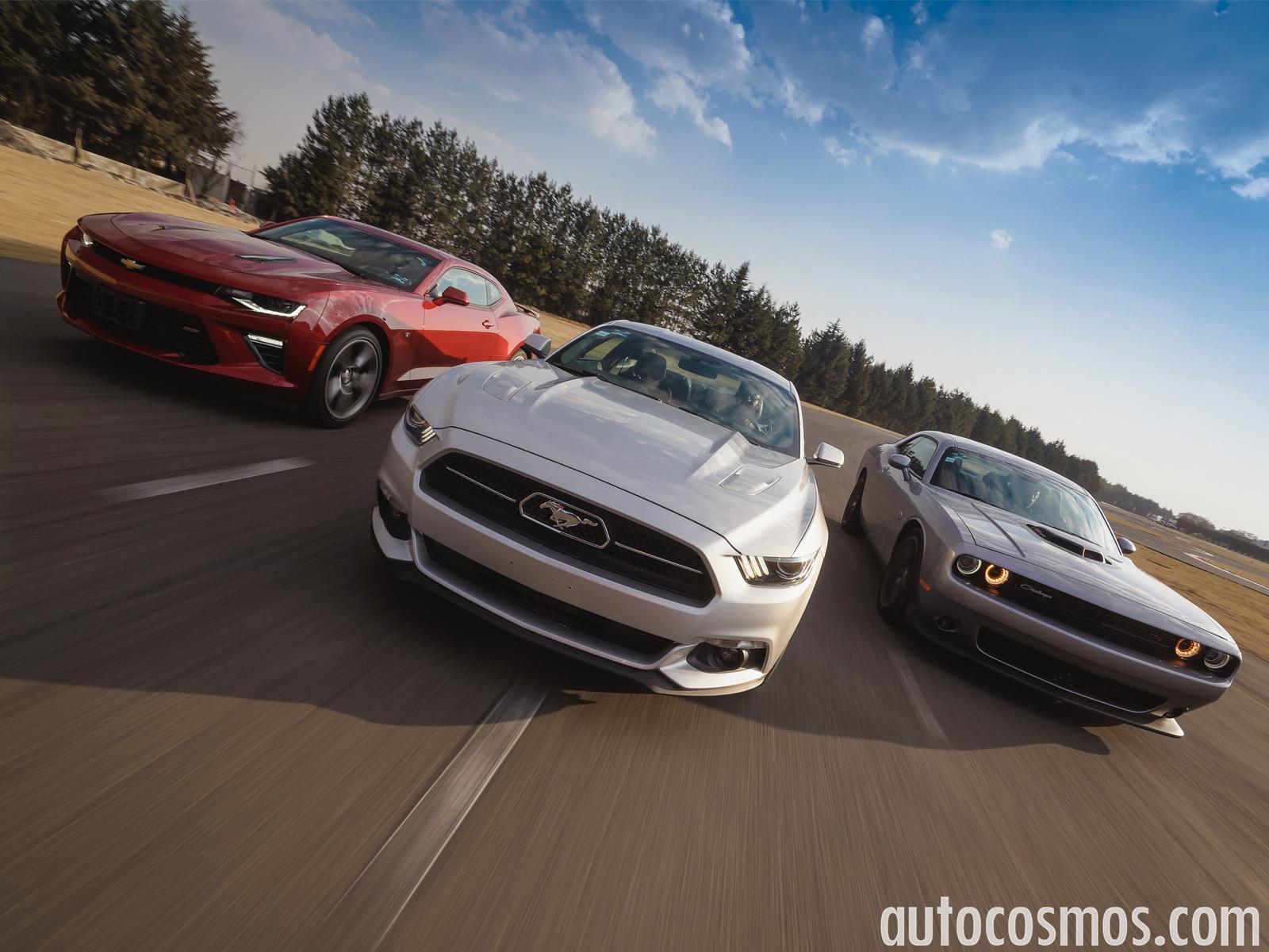 Prueba Ford Mustang Vs Chevrolet Camaro Vs Dodge