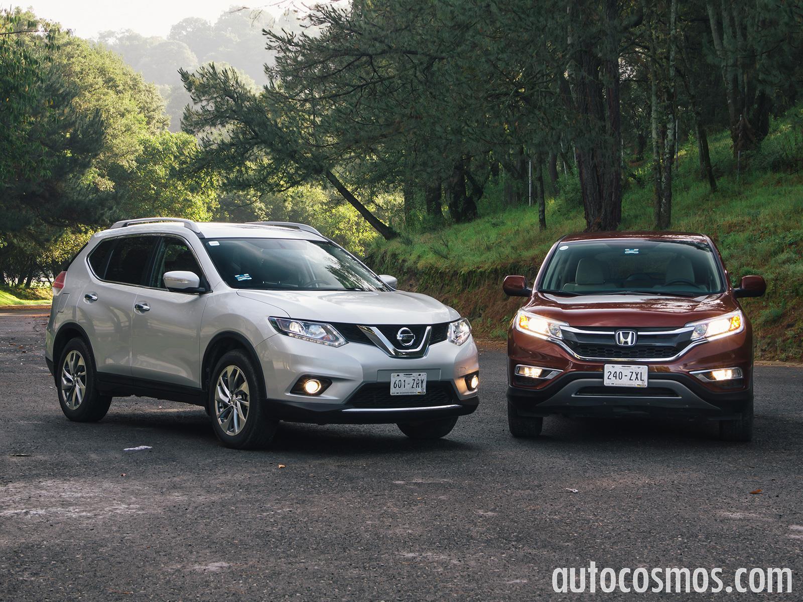 Honda CR-V 2015 vs Nissan X-Trail 2015 - Autocosmos.com