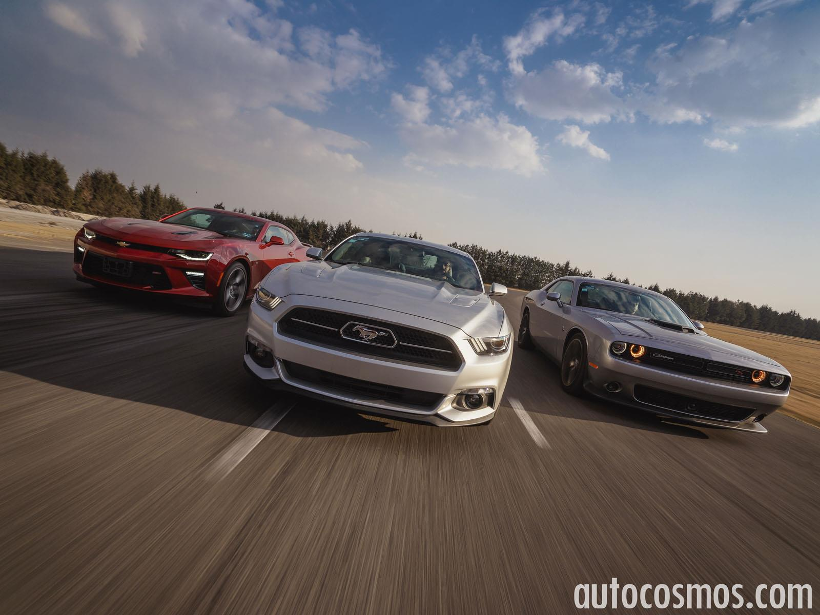 Prueba de manejo: Ford Mustang vs Chevrolet Camaro vs Dodge Challenger