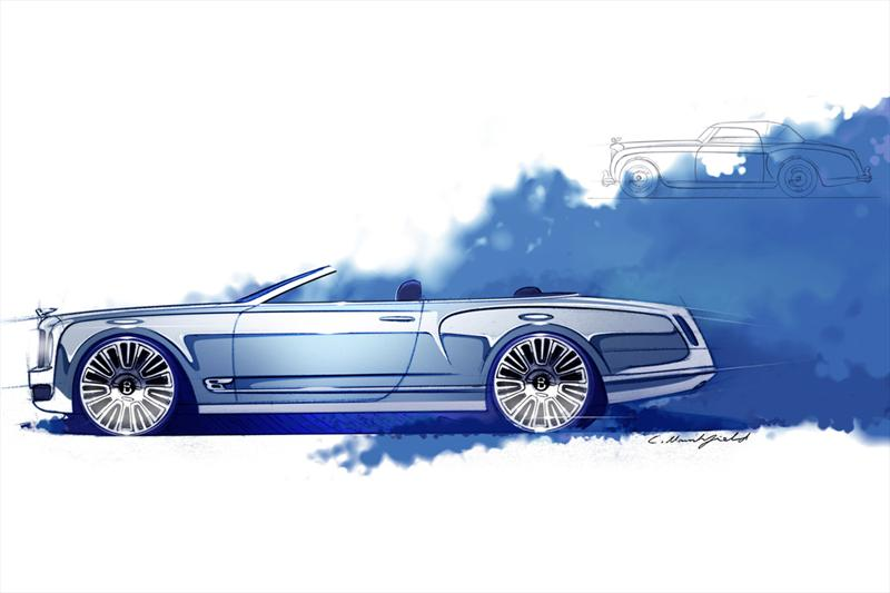 Bentley Mulsanne Vision Concept primeros bosquejos