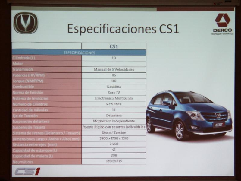 Changan CS1 Lanzamiento en Chile