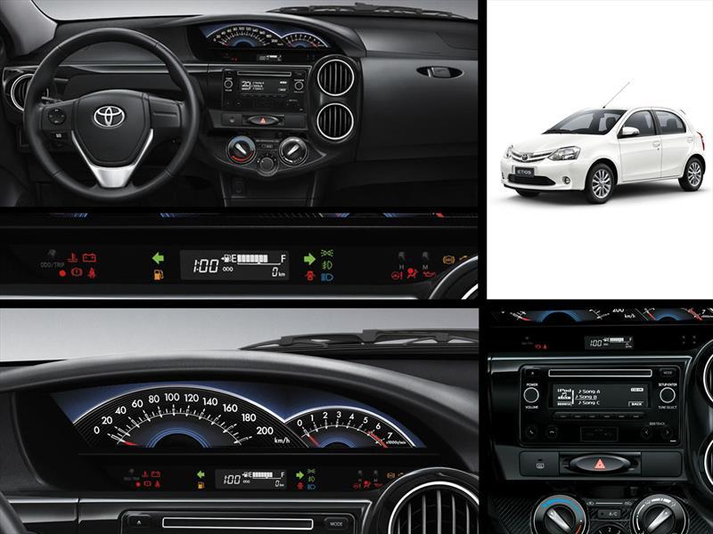 El nuevo interior del renovado Toyota Etios