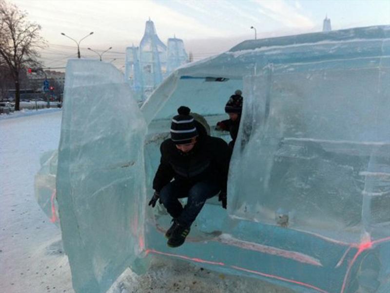 Una Toyota Land Cruiser bien helada