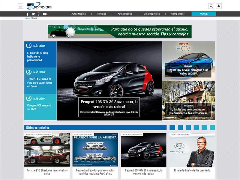 Autocosmos renueva su plataforma de noticias