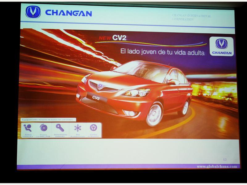 Changan CV2 Lanzamiento en Chile