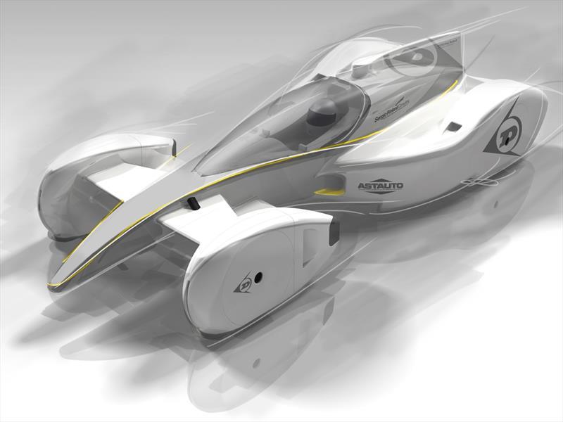 El auto de carreras en el futuro