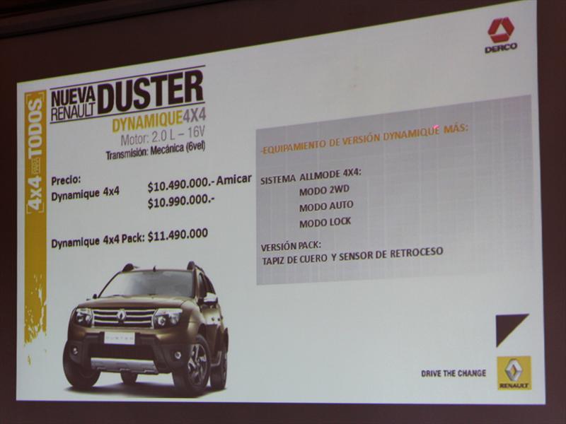 Renault Duster. Lanzamiento en Chile