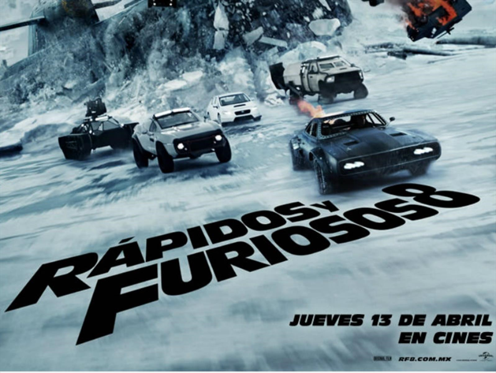 Rápidos y Furiosos 8, mucha velocidad en el cine