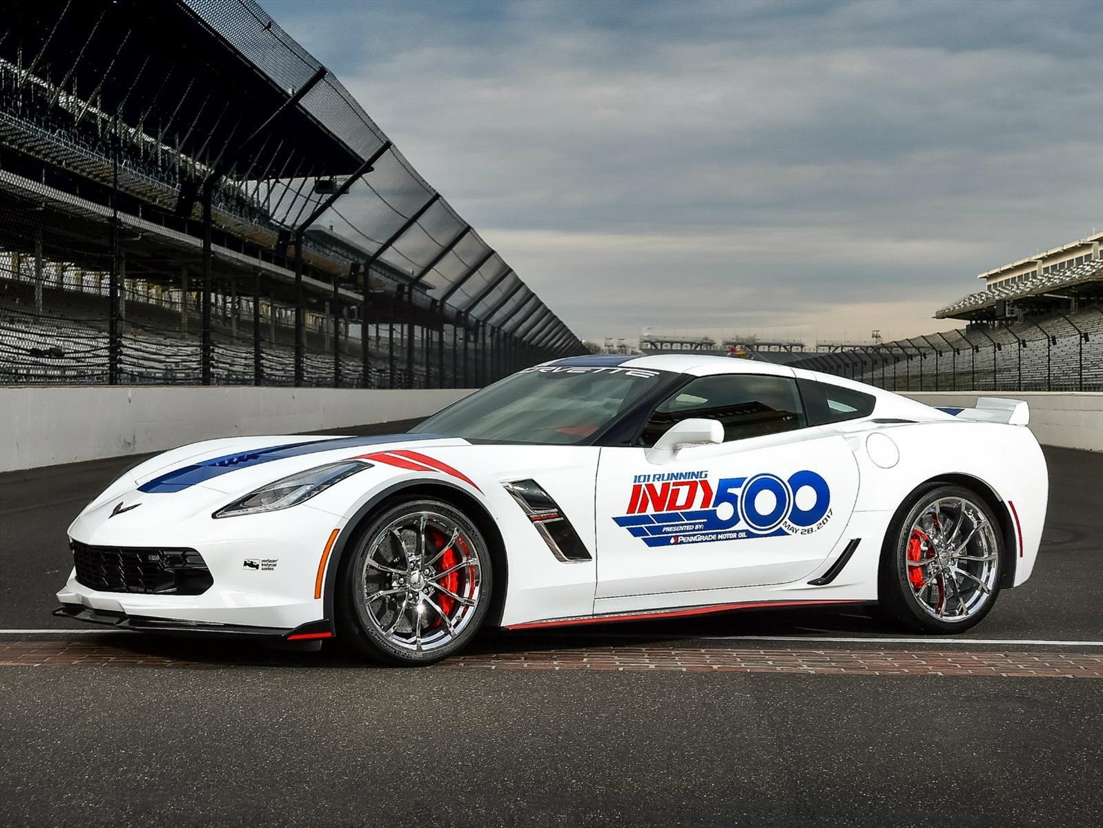 Chevrolet Corvette Grand Sport se convierte en el pace car de las 500 Millas de Indianápolis 2017