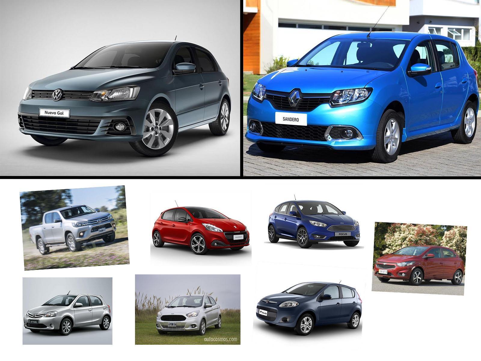 Los 10 autos más vendidos en Argentina en Julio de 2017