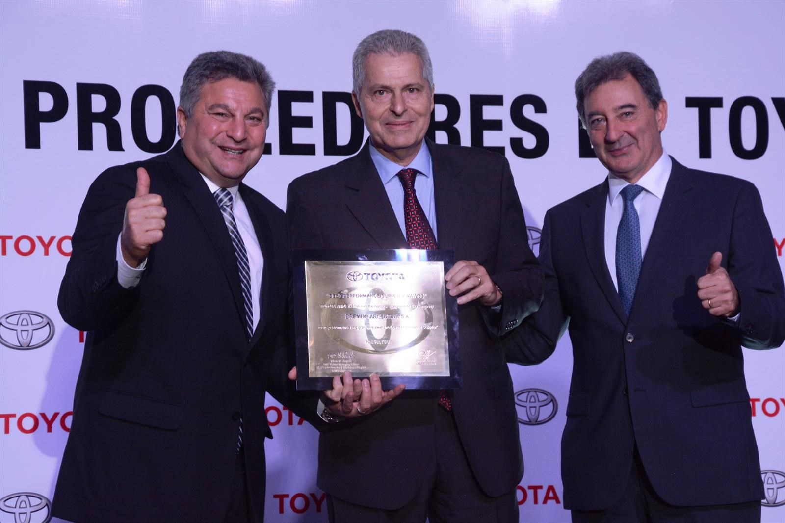 Toyota reconoció a sus proveedores