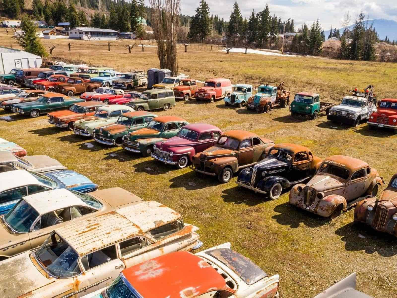 Terreno sale a la venta con 340 carros clásicos incluidos