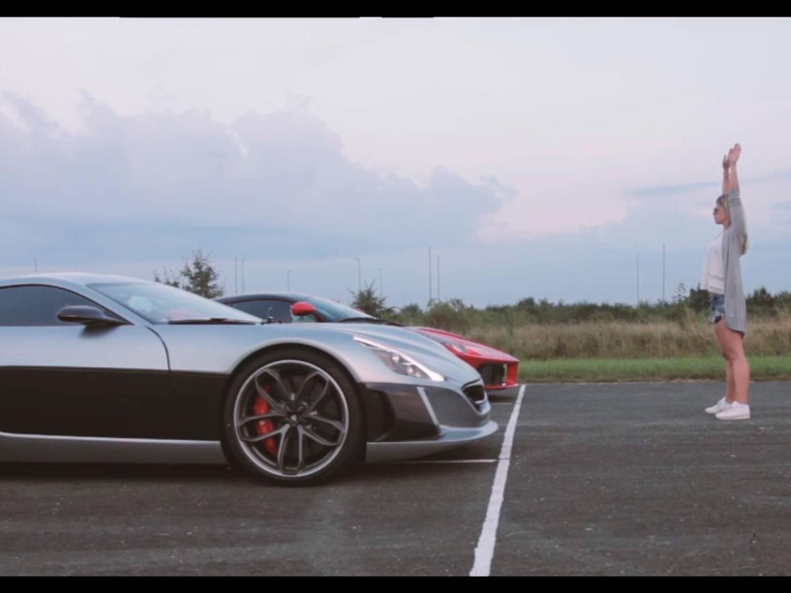Video: Rimac Concept One Vs Ferrari LaFerrari ¿Quién gana?