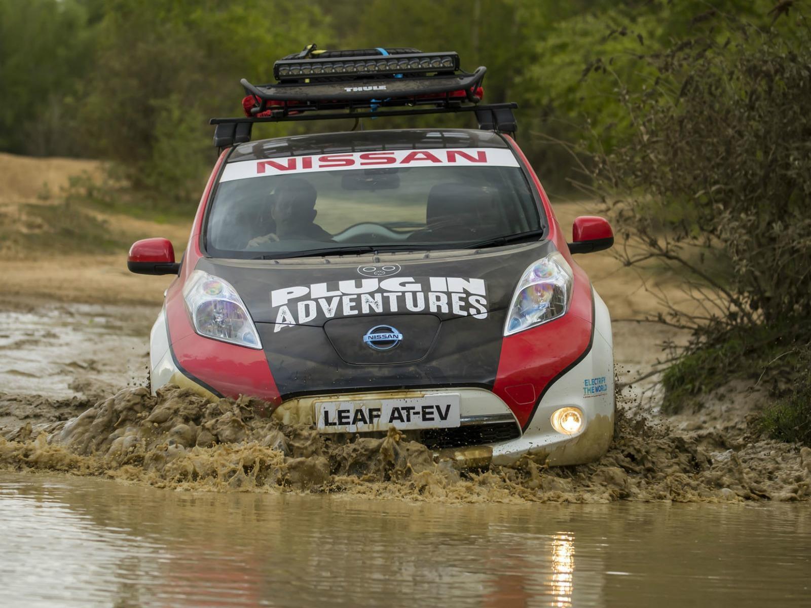 Nissan LEAF compite en el Rally de Mongolia