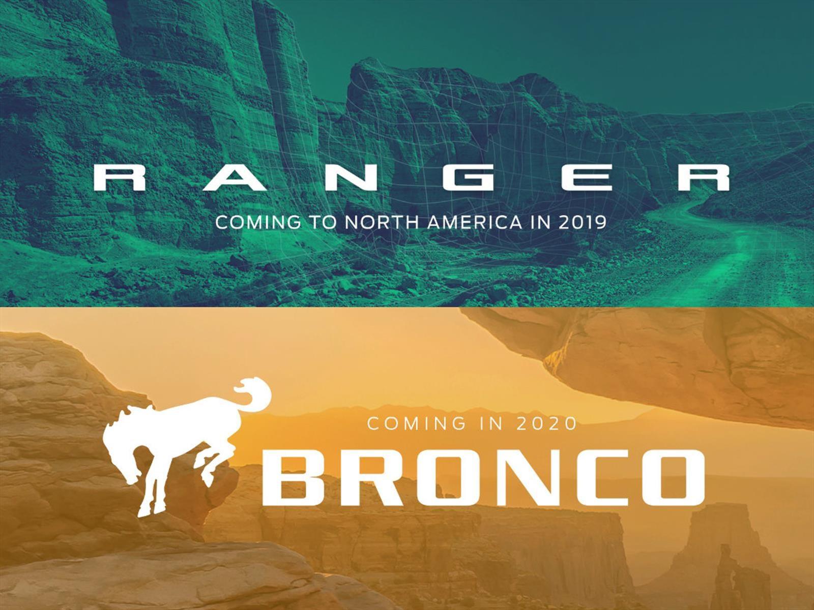 Confirmado, Ford Bronco y Ranger regresan a Estados Unidos
