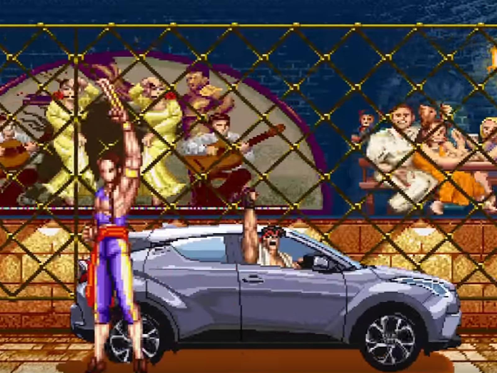 Toyota C-HR venga al Lexus destruido en Street Fighter II