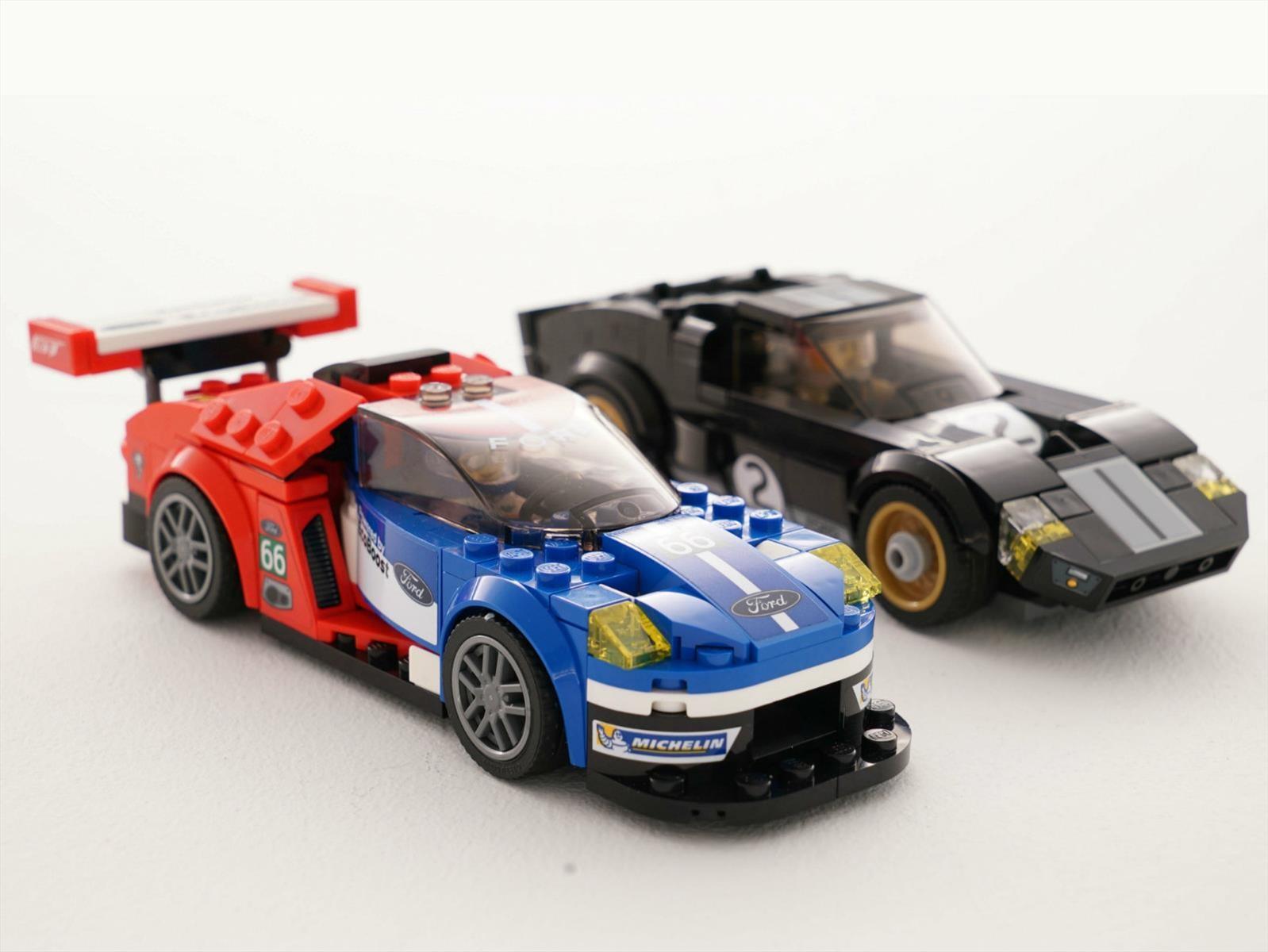 Ford GT 2016 y GT40 1966 al estilo Lego