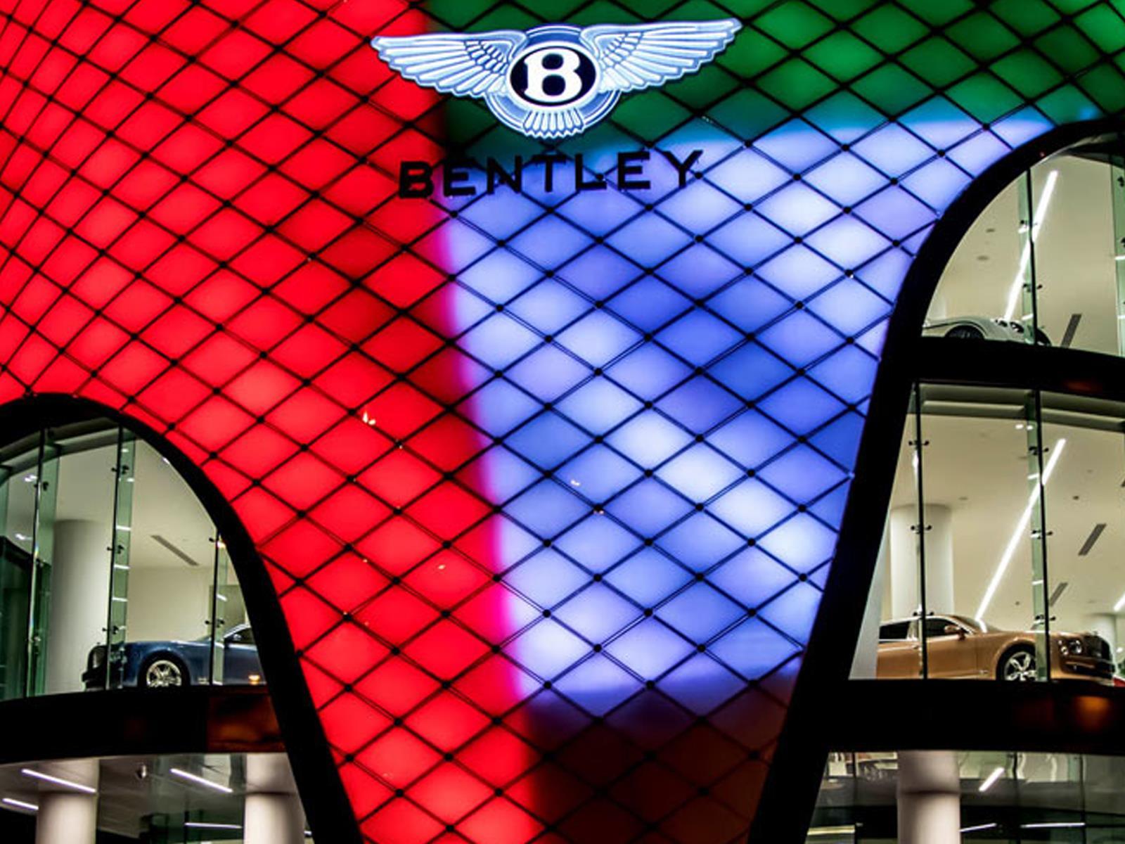 Bentley abre un fastuoso showroom, dotado de lujo y de exclusividad