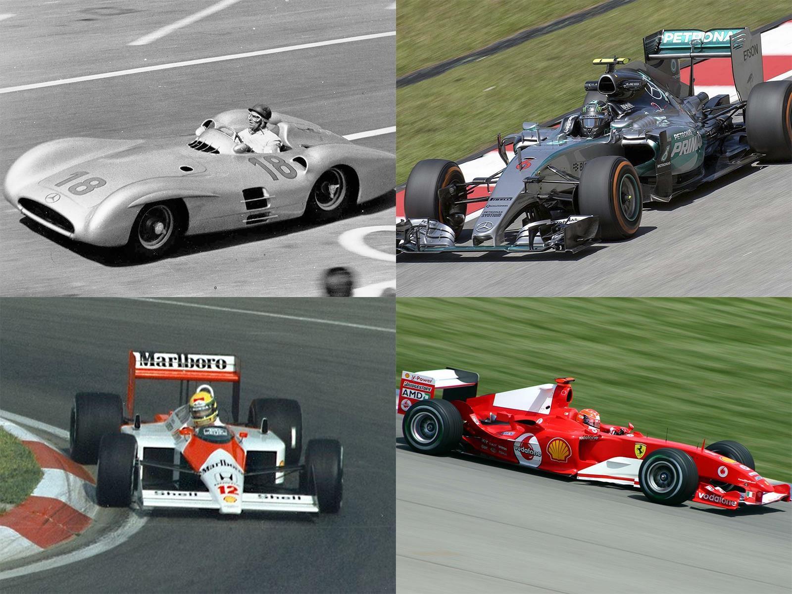 ¿Cuáles son los 10 mejores autos de la historia de la Fórmula 1?
