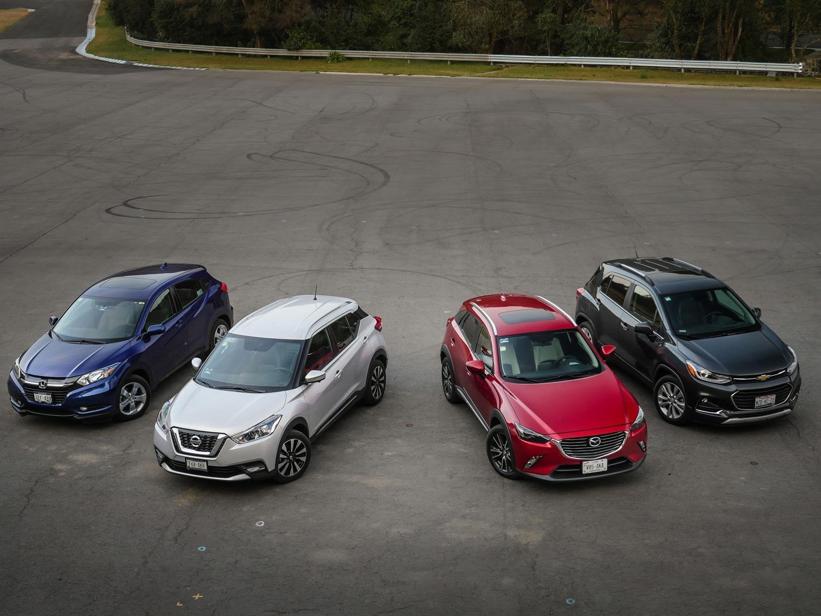 Comparativa: Chevrolet Trax vs Honda HR-V vs Nissan Kicks vs Mazda CX-3