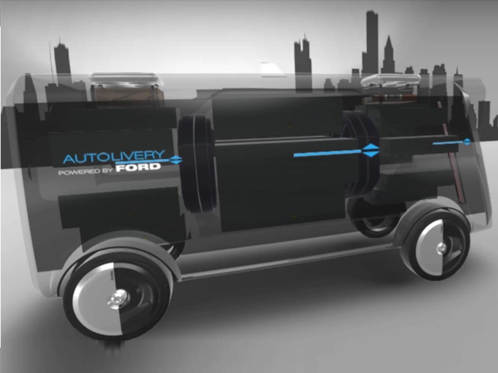 Ford tiene una idea muy particular de cómo serán los delivery en el futuro
