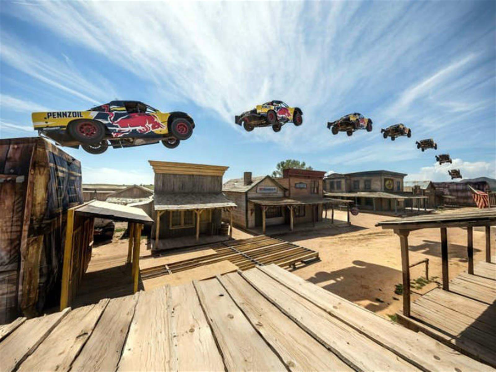 Este es el Récord Guinness del salto más largo en pick-up