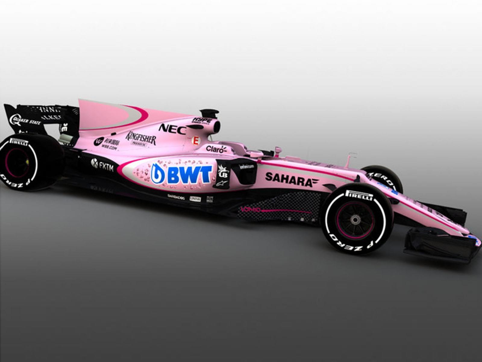F1 2017: Force India correrá de color rosado este año en la Formula Uno