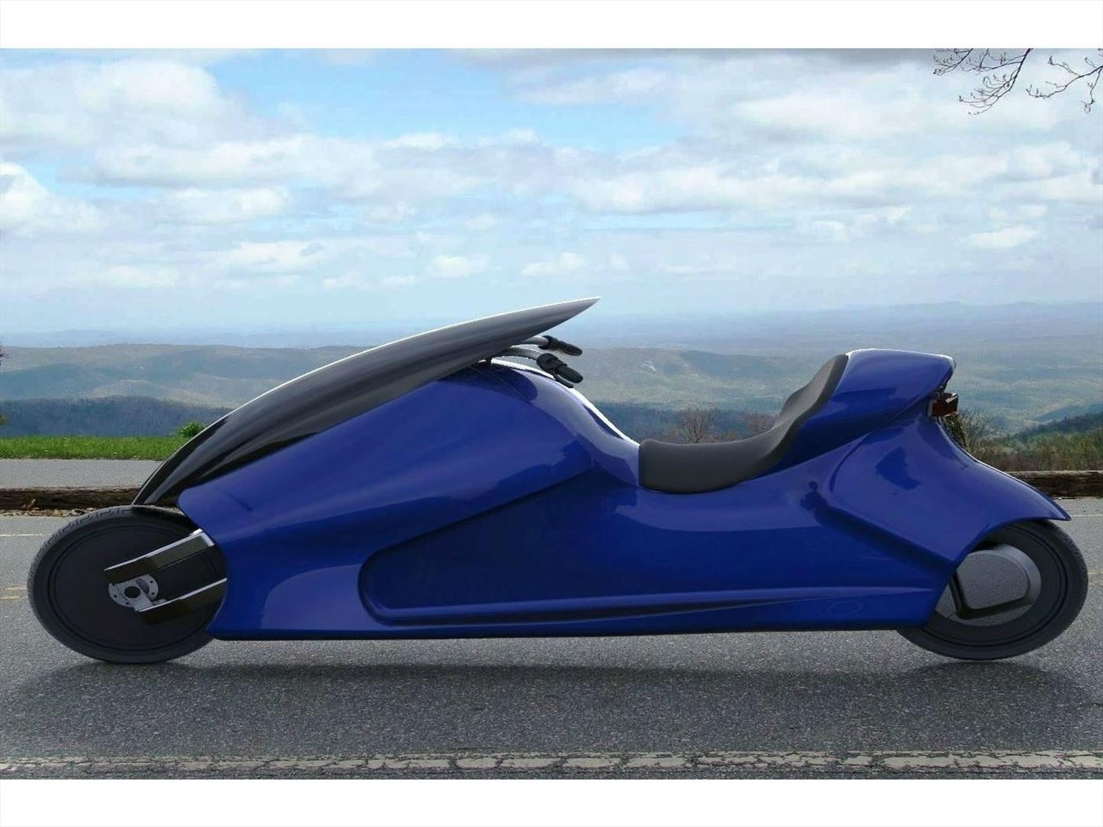 GyroCycle, la moto eléctrica que mantiene el equilibrio automáticamente