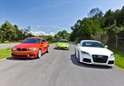 Audi TT RS 2012 vs BMW Serie 1M 2012 vs Porsche Cayman R 2012