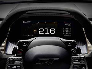 Este es el cuadro de instrumentos del Ford GT 2017