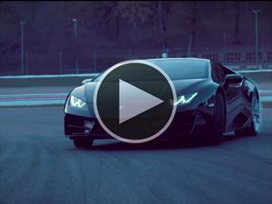 El Lamborghini Huracán LP 580-2 en acción