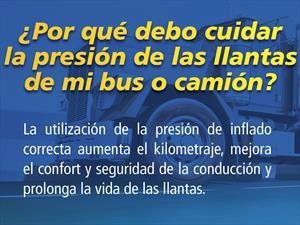 ¿Por qué debo cuidar la presión de las llantas de mi bus o camión?