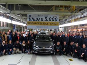 Chevrolet Cruze alcanza las 5.000 unidades producidas en Argentina