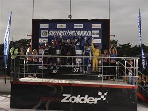 Steven Goldstein subió al podio en Zolder