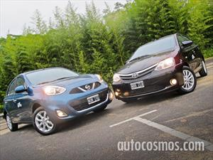 Prueba comparativa Nissan March Vs Toyota Etios