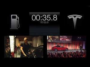 Video: Tesla cambia las baterías de sus autos en 90 segundos