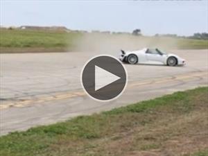 Terrible accidente con un Porsche 918 Spyder