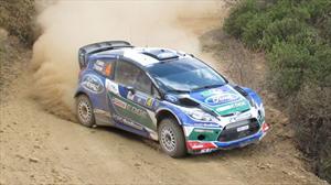 Ford Fiesta RS WRC EcoBoost 1.6 presente en el Rally México 2012