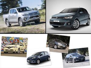 Los 10 autos más vendidos en Argentina en Octubre de 2016