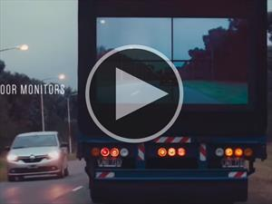 Video: Las pantallas de Samsung en los camiones que pueden salvar vidas