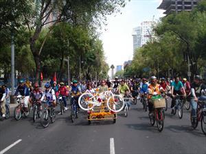 La Ciudad de México celebra el Día mundial sin auto