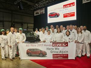 Honda inicia la producción del CR-V 2017 en la planta de Indiana