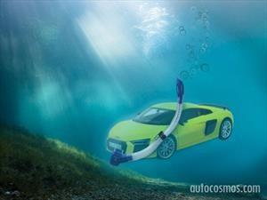Audi R8 y un rescate acuático de no creer