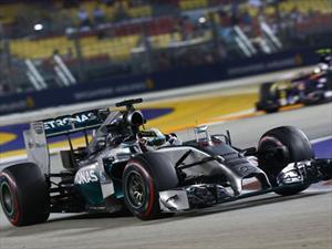 F1 GP de Singapur Clasificación Hamilton y Mercedes en la punta