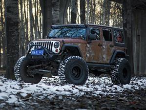 Jeep Wrangler Hunting Unlimited por Vilner, apariencia oxidada y ruda