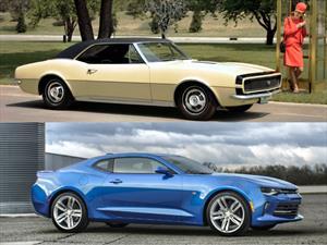 Chevrolet Camaro, las diferencias entre la primera y la última generación