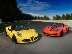 Duelo de titanes: Enfrentamos al Porsche 718 Boxster con el Alfa Romeo 4C Spider